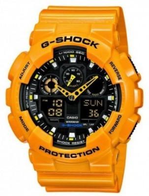 Casio G-Shock férfi karóra, GA-100A-9AER, Sportos, Ana-digi, Műanyag