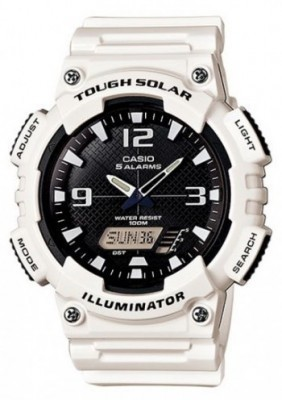 Casio Tough Solar férfi karóra, AQ-S810WC-7AVDF, Sportos, Ana-digi, Műanyag