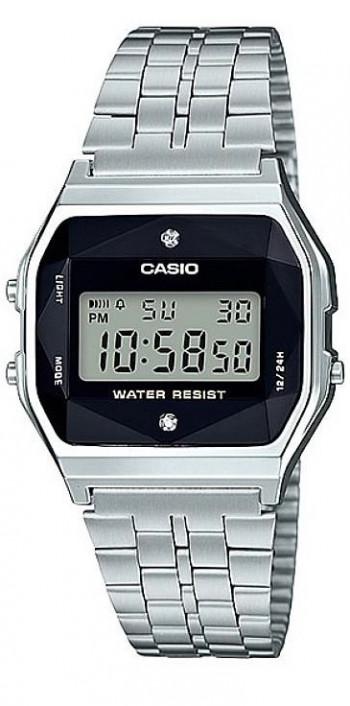 Casio Diamond Retro unisex karóra, A158WEAD-1EF, Divatos, Digitális, Acél