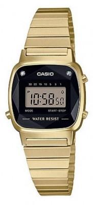 Casio Diamond Retro női karóra, LA670WGAD-1DF, Sportos, Digitális, Acél