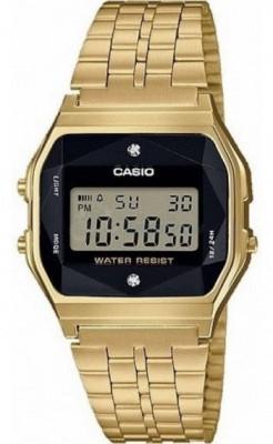 Casio Diamond Retro unisex  karóra, A159WGED-1EF, Divatos, Digitális, Nemesacél