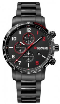 Wenger Attitude Chronograph Special Edition férfi karóra, 01.1543.125, Sportos, Automata kronográf, Nemesacél