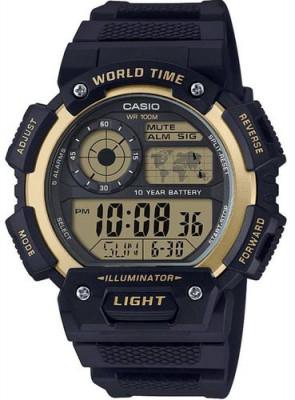 Casio World férfi karóra, AE-1400WH-9AVEF, Sportos, Digitális, Műanyag