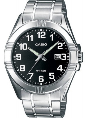 Casio Standard férfi karóra, MTP-1308PD-1BVEF, Klasszikus, Kvarc, Acél