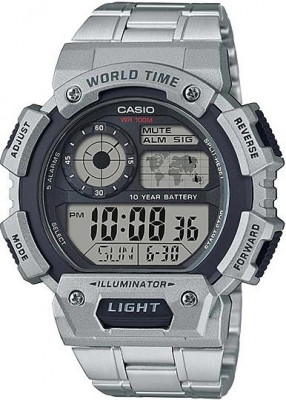 Casio World férfi karóra, AE-1400WHD-1AVEF, Sportos, Digitális, Nemesacél