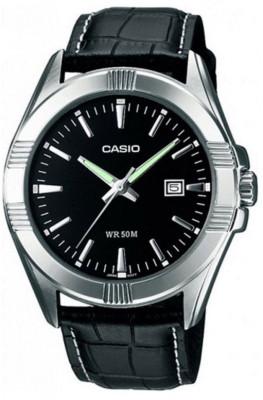 Casio Standard férfi karóra, MTP-1308PL-1AVEF, Klasszikus, Kvarc, Bőr