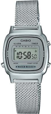 Casio Retro női karóra, LA670WEM-7EF, Divatos, Digitális, Nemesacél