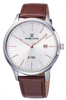Daniel Klein D Two férfi karóra, DK11920-4, Klasszikus, Kvarc, Bőr