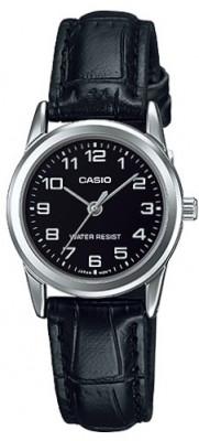 Casio Standard női karóra, LTP-V001L-1BUDF, Klasszikus, Kvarc, Bőr