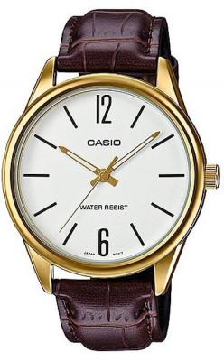 Casio Standard férfi karóra, MTP-V005GL-7BUDF, Klasszikus, Kvarc, Bőr