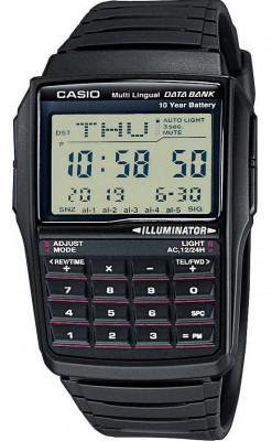 Casio Retro Data Bank férfi karóra, DBC-32-1A, Sportos, Digitális, Műanyag