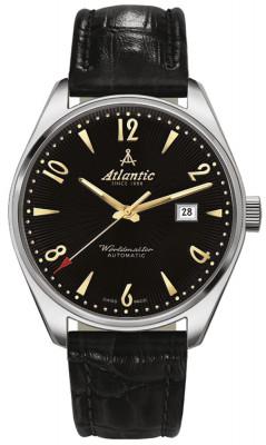 "Atlantic  Worldmaster ""ART DECO"" férfi karóra, 51752.41.65G, Klasszikus, Automata, Bőr"