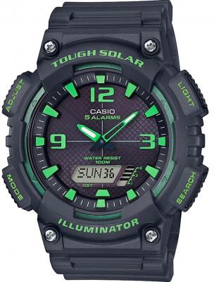 Casio Tough Solar férfi karóra, AQ-S810W-8A3VEF, Sportos, Ana-digi, Műanyag