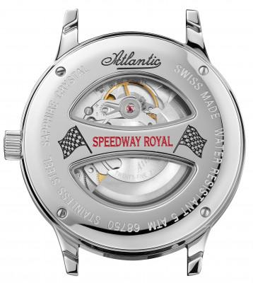 Atlantic Speedway Royal férfi karóra, 68750.41.22, Elegáns, Automata, Bőr