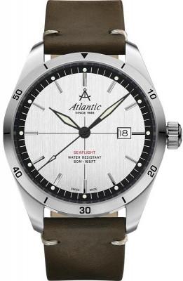 Atlantic Seaflight férfi karóra, 70351.41.21, Sportos, Kvarc, Bőr
