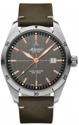 Atlantic Seaflight férfi karóra, 70351.41.41R, Sportos, Kvarc, Bőr
