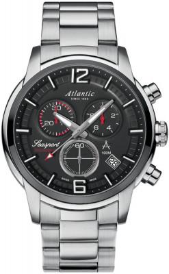 Atlantic Seasport Chronograph férfi karóra, 87466.42.45, Sportos, Kvarc, Acél