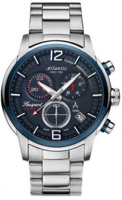 Atlantic Seasport Chronograph férfi karóra, 87466.47.55, Sportos, Kvarc, Nemesacél