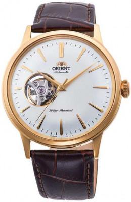 Orient Bambino Open Heart férfi karóra, RA-AG0003S10B, Klasszikus, Automata, Bőr