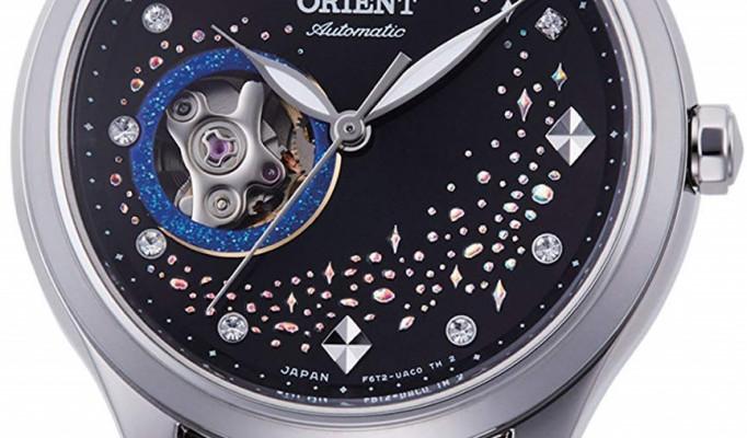Orient Blue Moon Open Heart II női karóra, RA-AG0019B10B, Divatos, Automata, Bőr