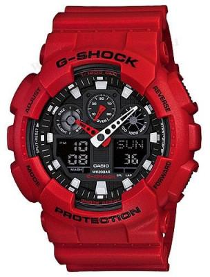 Casio G-Shock férfi karóra, GA-100B-4A, Sportos, Kvarc, Műanyag
