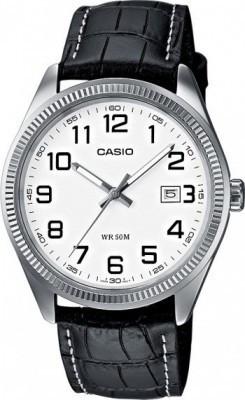 Casio Standard férfi karóra, MTP-1302L-7B, Klasszikus, Kvarc, Bőr