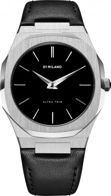 D1 Milano Ultra Thin férfi karóra, UTLJ01, Divatos, Kvarc, Bőr
