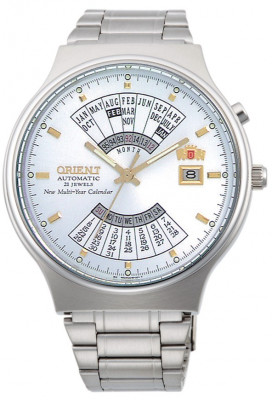 Orient Multi Year Calendar férfi karóra, FEU00002WW, Klasszikus, Automata, Nemesacél