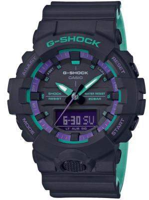 Casio G-Shock G-Classic férfi karóra, GA-800BL-1AER, Sportos, Ana-digi, Szilikon
