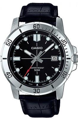 Casio Enticer férfi karóra, MTP-VD01L-1EV, Sportos, Kvarc, Bőr