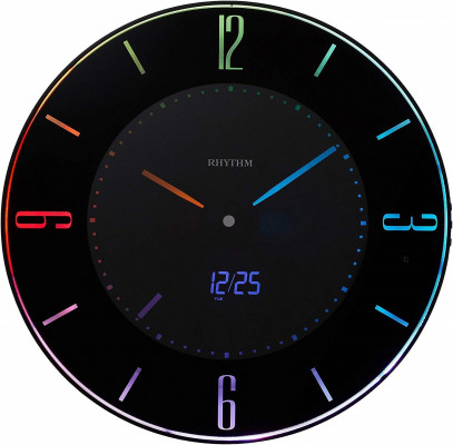 Rhythm LED Iroria digitális falióra, 8RZ197SR02, Digitális