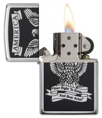 Zippo Black and White Americana öngyújtó, Z28290