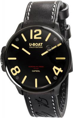 U-Boat Capsoil férfi karóra, 8108/A, Divatos, Svájci elektromechanikus, Bőr