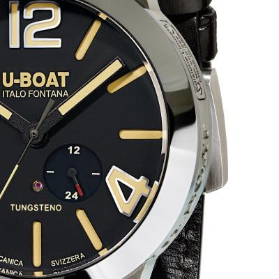 U-Boat Stratos 45BK férfi karóra, U9006, Divatos, Automata, Bőr