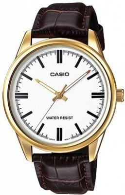 Casio Standard férfi karóra, MTP-V005GL-7A, Klasszikus, Kvarc, Bőr