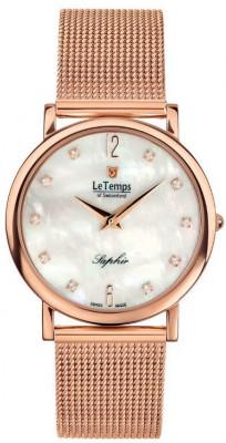 Le Temps Zafira Slim Swarovski női karóra, LT1085.55BD02, Elegáns, Ronda, Nemesacél
