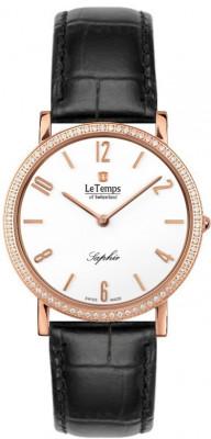 Le Temps Zafira Slim Swarovski női karóra, LT1086.51BL51, Elegáns, Ronda, Bőr