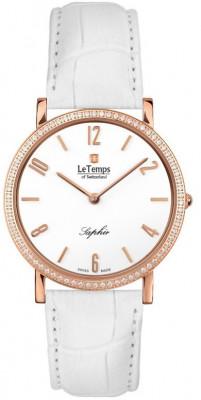 Le Temps Zafira Slim Swarovski női karóra, LT1086.51BL54, Elegáns, Ronda, Bőr