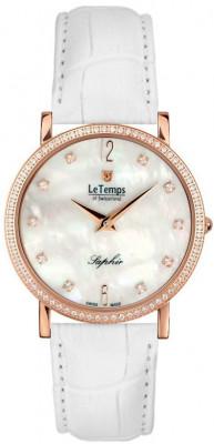 Le Temps Zafira Slim Swarovski női karóra, LT1086.55BL54, Elegáns, Ronda, Bőr