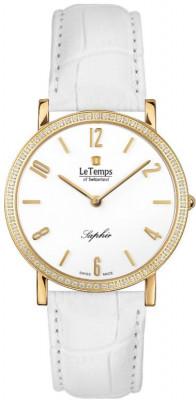 Le Temps Zafira Slim Swarovski női karóra, LT1086.61BL64, Elegáns, Ronda, Bőr