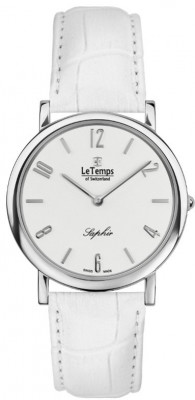 Le Temps Zafira Slim női karóra, LT1085.01BL04, Elegáns, Ronda, Bőr