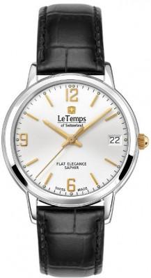 Le Temps Flat Elegance női karóra, LT1088.63BL61, Elegáns, Ronda, Bőr
