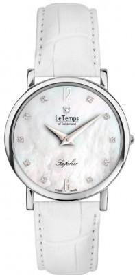 Le Temps Zafira Slim Swarovski női karóra, LT1085.05BL04, Elegáns, Ronda, Bőr