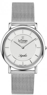 Le Temps Zafira Slim női karóra, LT1085.03BS01, Elegáns, Ronda, Nemesacél