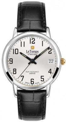 Le Temps Flat Elegance női karóra, LT1088.61BL61, Elegáns, Ronda, Bőr