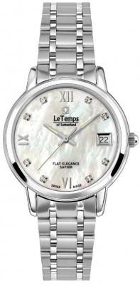 Le Temps Flat Elegance női karóra, LT1088.05BS01, Elegáns, Ronda, Nemesacél