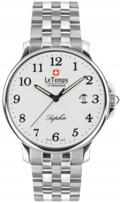 Le Temps Zafira férfi karóra, LT1067.01BS01, Elegáns, Ronda, Nemesacél