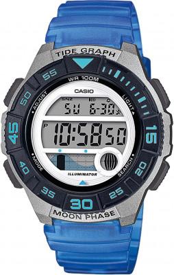 Casio Standard Digi női karóra, LWS-1100H-2AV, Sportos, Digitális, Műanyag