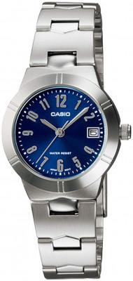 Casio Standard női karóra, LTP-1241D-2A2DF, Klasszikus, Kvarc, Nemesacél