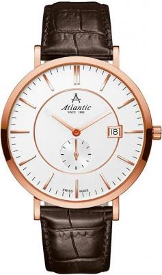 Atlantic Seabreeze Slim férfi karóra, 61352.44.21, Elegáns, Kvarc, Bőr